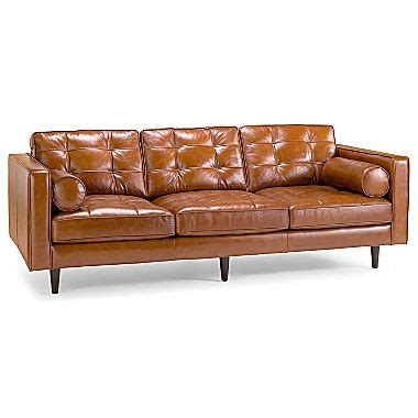 oasis darrin leather sofa oasis darrin leather sofa jcpenney chrissy