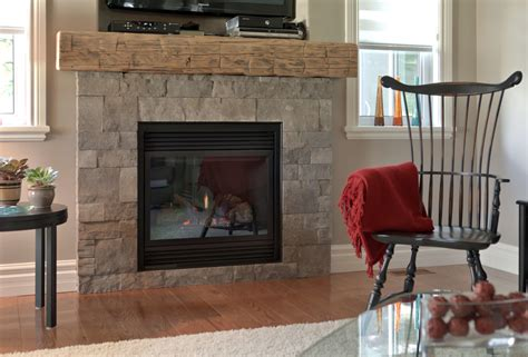 Natural Stone Veneer Popular Choice For Fireplace