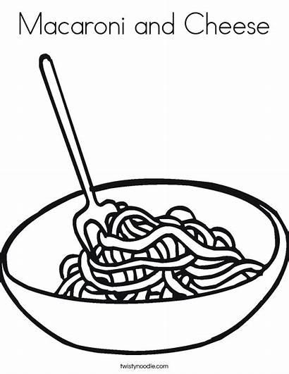 Cheese Macaroni Coloring Noodles Clipart Noodle Bowl