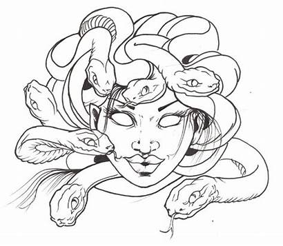 Medusa Tattoo Drawing Head Sketch Outline Easy