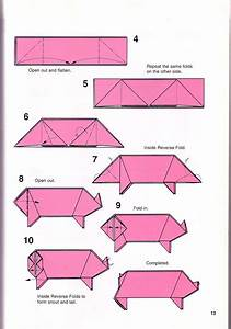 Very Simple Pig Origami Instructions 1