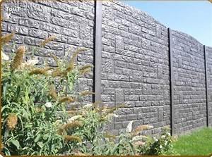 cloture en beton palissade de jardin autobloquant marne With cloture jardin en beton