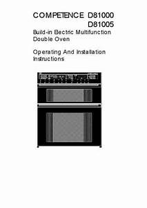 Aeg Competence D81005w Oven Download Manual For Free Now