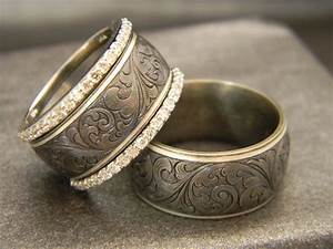 men39s ring 10mm titanium ring with jhook custom hand With western engraved wedding rings