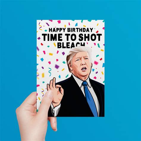 trump birthday donald card cards
