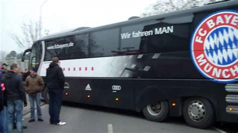 mainz  fc bayern muenchen bus von bayern kommt youtube