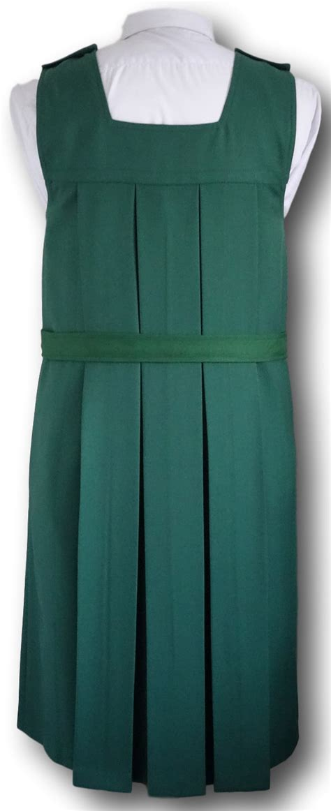 traditional bottle green box pleat gymslip
