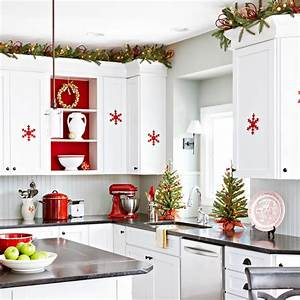 Inspiring christmas decor ideas for Kitchen cabinets lowes with xmas wall art