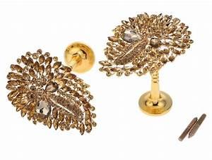 Rideau Rose Gold : 2 x 180x90mm cristal verre dor rose rideau crochet attache gland embrasse ebay ~ Teatrodelosmanantiales.com Idées de Décoration