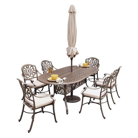 home styles floral blossom taupe 7 piece patio dining set