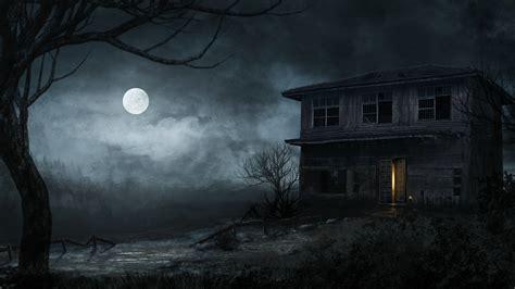Halloween, Scary, Moon, Night, Tree