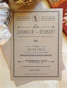 Kraft Paper Rustic Wedding Invitation