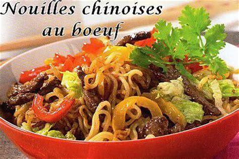 pates chinoises au boeuf recette de nouilles chinoises au boeuf