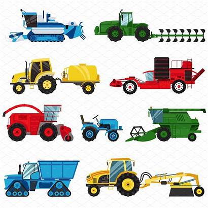Farm Equipment Harvester Combine Vector Machinery Agriculture