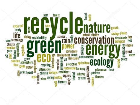 Recycle And Ecology Word Cloud — Stock Photo #68269509