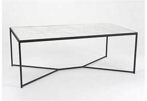 Table Marbre Rectangulaire : table basse rectangulaire ne m tal noir plateau marbre amadeus 26635 ~ Teatrodelosmanantiales.com Idées de Décoration