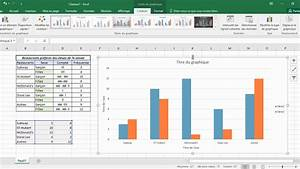 Diagramme  U00e0 Bandes Doubles   Tutoriel Excel Avec Quadrill U00e9