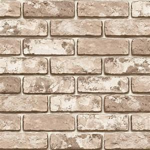 Brown Brick Effect Wallpaper Self Adhesive Vinyl Sheets ...