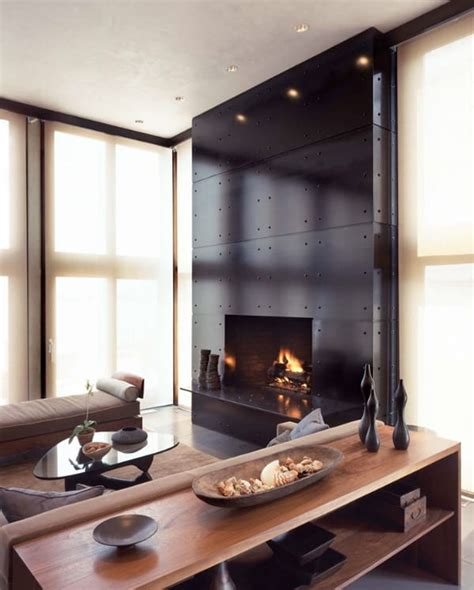 clean  modern showcase fireplace designs