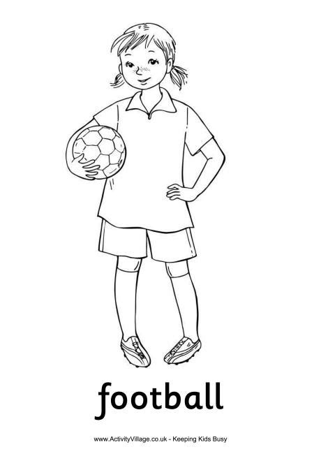 football girl colouring page