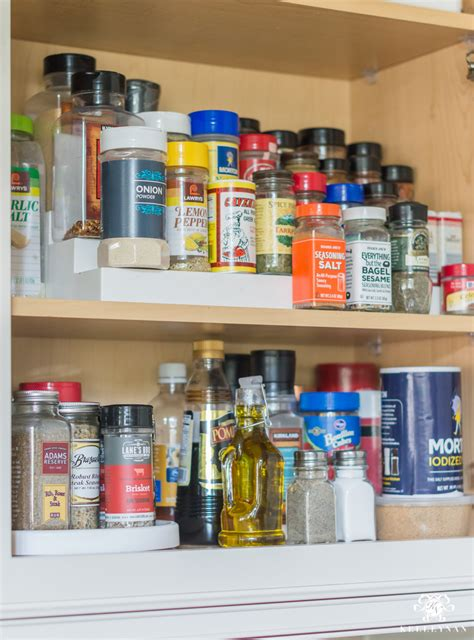 Kitchen Organization Turntable by Easy Organized Baking And Spice Cabinet Kelley Nan