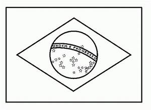 National Flag Of Brazil To Color Coloring Pages