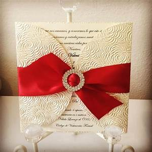 ivory red and gold wedding invitation rhinestone buckle With red rhinestone wedding invitations