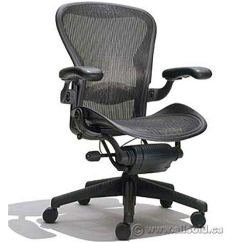 herman miller aeron quot b size quot black all mesh ergonomic task
