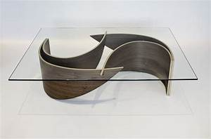 Elegant coffee table with wave shaped base wave coffee for Elegant cool coffee table