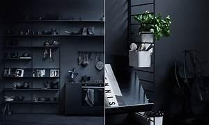 String Regal Ikea : string regal system esche schwarz skandinavische wohnaccessoires ~ Markanthonyermac.com Haus und Dekorationen