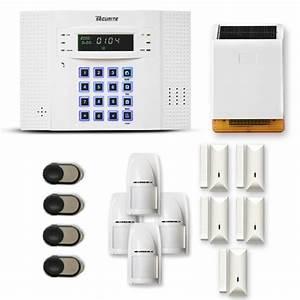alarme maison sans fil dnb 4 a 5 pieces mouvement With alarme maison sirene exterieure