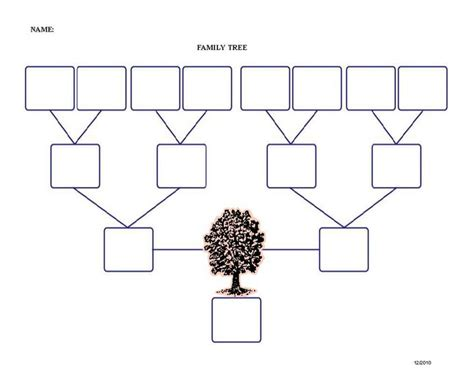 blank family tree template 9 best images of simple family tree templates simple