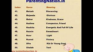 Muslim Baby Girl Names With Meanings - YouTube