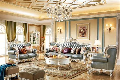 italian luxury classic european furniture living room sofa set