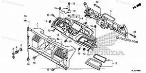 Honda Side By Side 2018 Oem Parts Diagram For Instrument