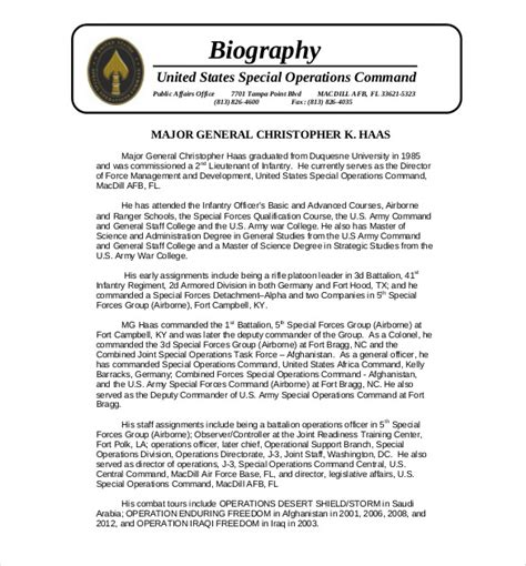 biography template 25 biography templates doc pdf excel free premium templates