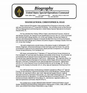 25 biography templates doc pdf excel free premium for Air force bio template