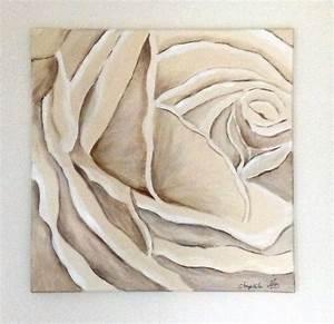 Nuance De Rose : rose peinte en nuances de beige peintures par kikry art ~ Melissatoandfro.com Idées de Décoration