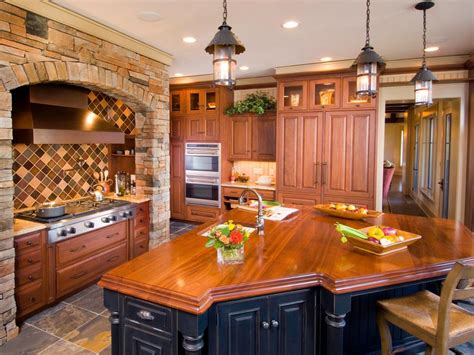 Inspired Examples Of Wood Kitchen Countertops  Hgtv