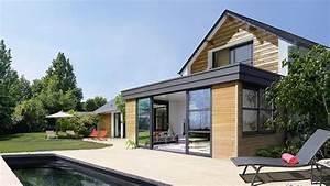 faire extension maison excellent amazing extention maison With maison ossature bois avis