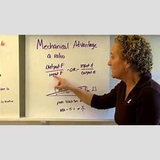 Machines, Mechanical Advantage, Efficiency Youtube