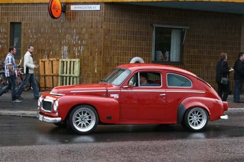 red   flared fenders  custom wheels volvo pv