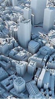 the city of london in 3d | City layout, City model, City ...