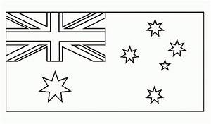 flag of australia coloring page - printable australian flag to colour printable pages