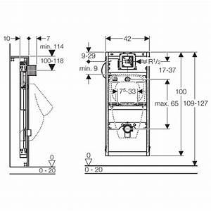 Vorwand Wc Höhe : geberit gis element urinal universal min 114 cm megabad ~ Articles-book.com Haus und Dekorationen