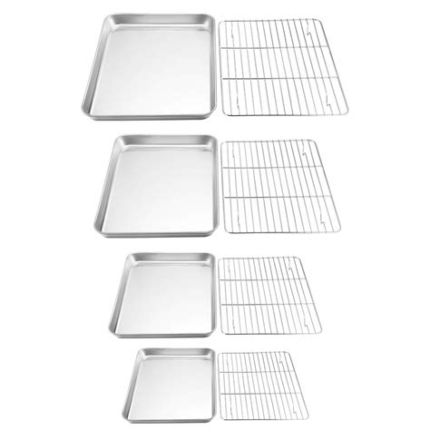 baking stainless rack steel sheet teamfar cooling cookie pans toxic non pure bakeware healthy stee sets cookware sheets homestuffonly