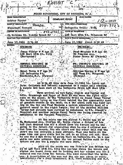 Police Report Carter Murder Rubin 1966 Triple