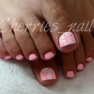 cool summer pedicure nail ideas 73 cherry nails