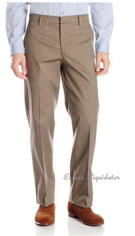 dockers  mens pants comfort khaki flat front