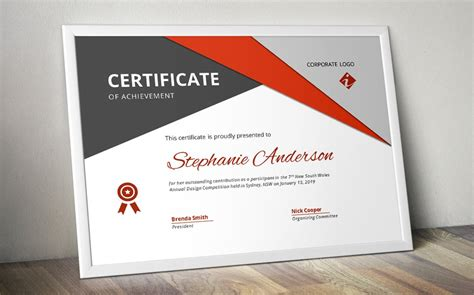 big triangle word docx certificate stationery templates